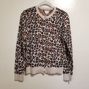 A New Day Leopard Print Cardigan Size Small